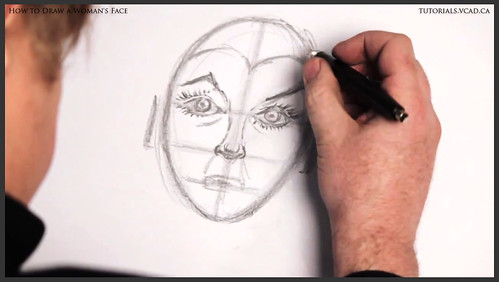 learn how to draw a womans face 015
