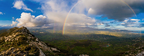 mountain clouds landscape rainbow magic zeus crete giouhtas yiouhtas archanew