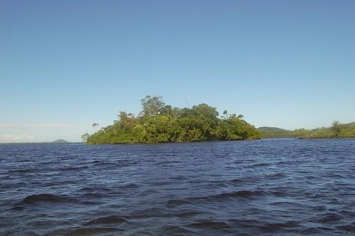 Eine Insel bei Tagesende