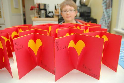 day 3146: odin's handmade pop-up valentine's day cards. I.