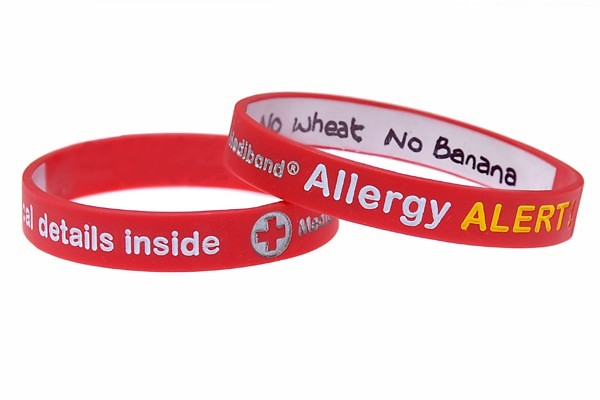 Mediband - Allergy - Write Your Own Information Inside Red