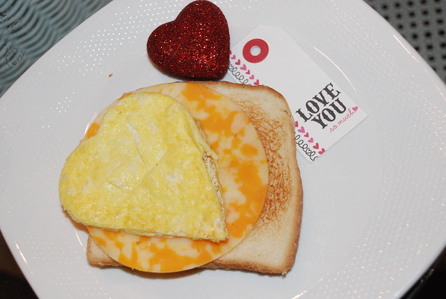 Heart Shaped Egg Breakfast