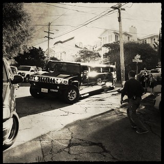 Hummer limo + 3 point turn (in Bernal Heights) = 15 minute challenge.
