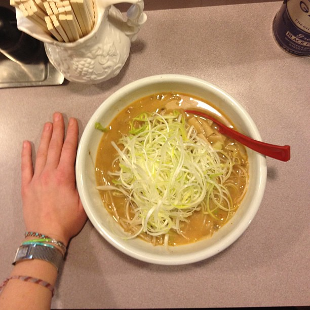 Valentine's Day dinner. A huuuuuuuuge bowl of Sapporo ramen.