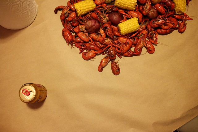 table of crawfish, new orleans
