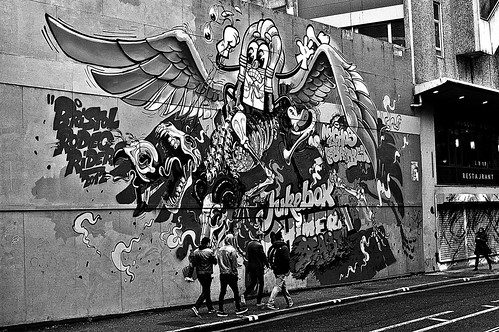 Bristol Graffiti 2 bw by birbee