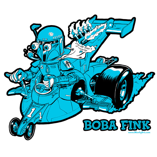Boba Fink Turquoise Tee