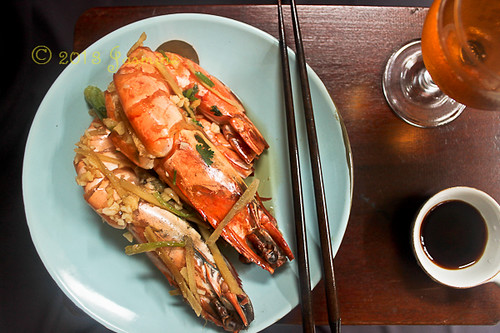 Steamed Giant Prawns Chinese Style