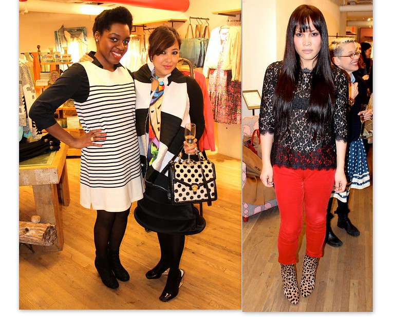 anthropologie fashion event attendees