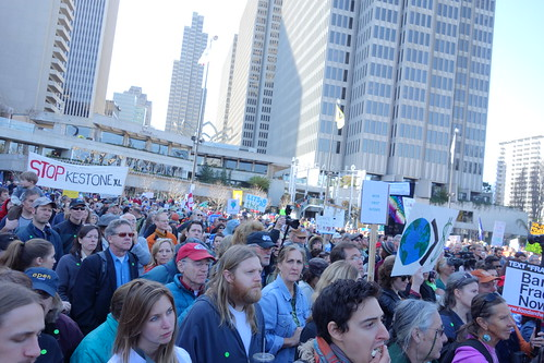 Photo of the Keystone XL Pipeline protest on February 17, 2013 in San Francisco (photo by Steve Rhodes - CC BY-NC-ND 2.0)