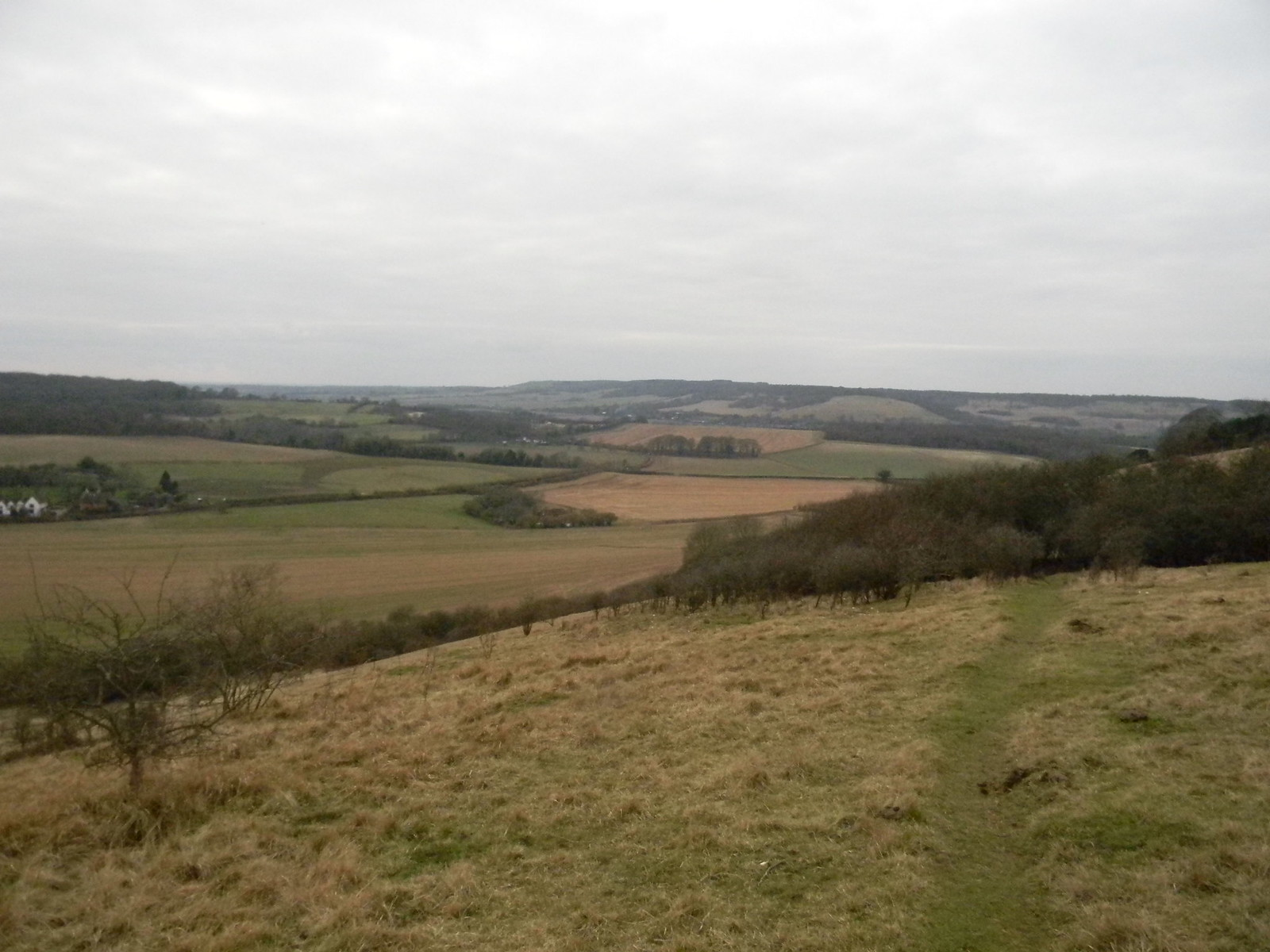 View from the escarpment Chilham Circular