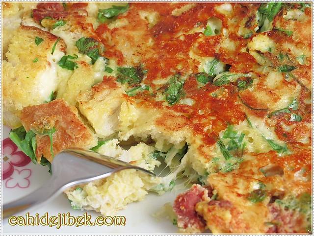 bayat ekmekli omlet nasıl