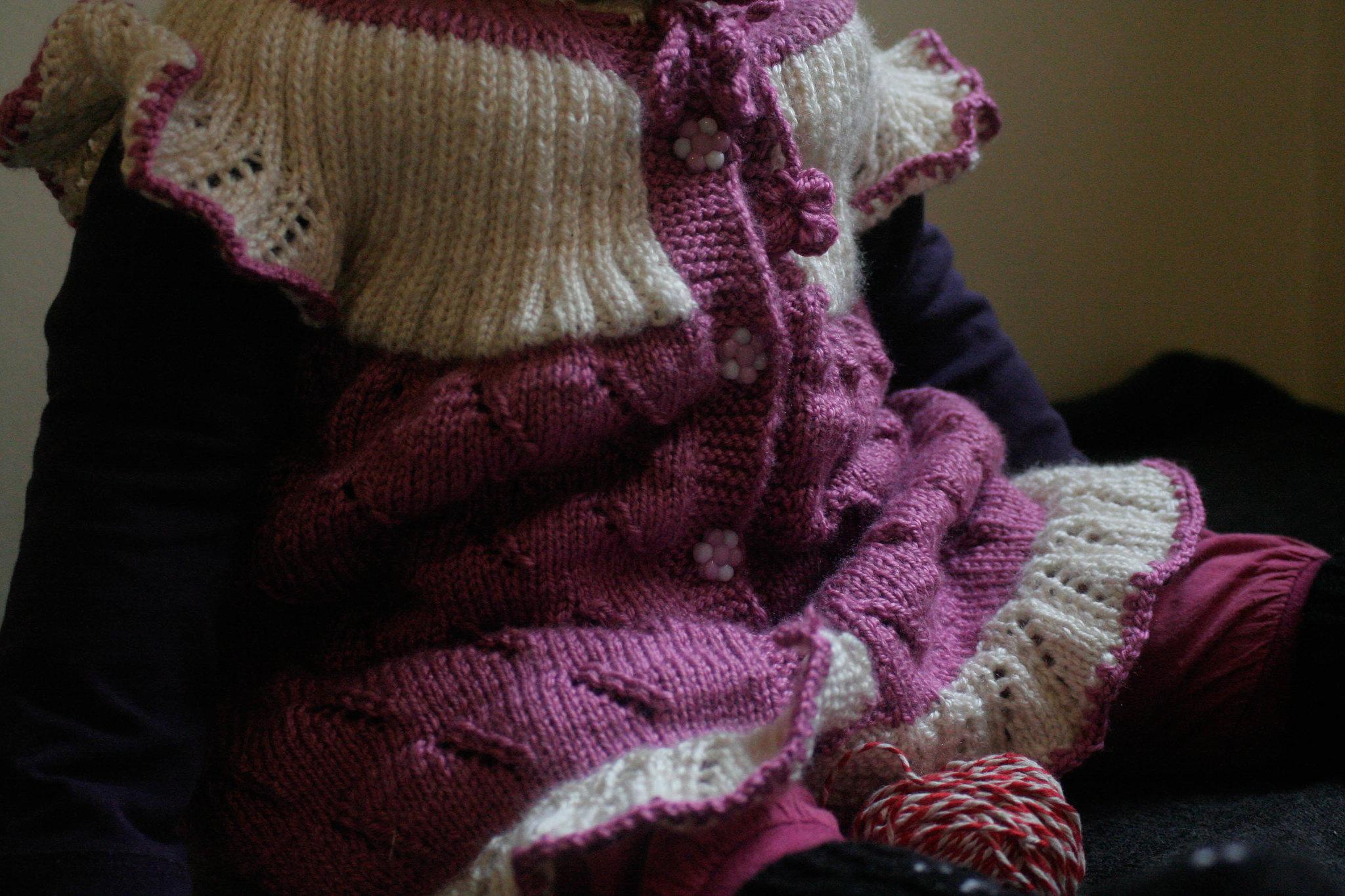 Neve in knitwear.