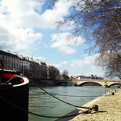 On the banks of the Seine.