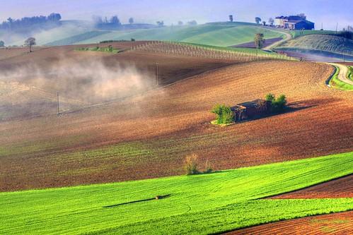nature colors fog del farmhouse photo foto natura hills e terre lands nebbia colori gianni colline imagery alessandria cascina monferrato immagini cuccaro armano