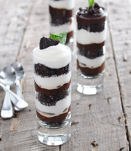 Cookie and Cream Mint Trifle