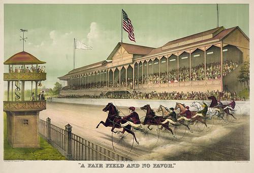006-Imagen carreras caballos trotones-Library of Congress