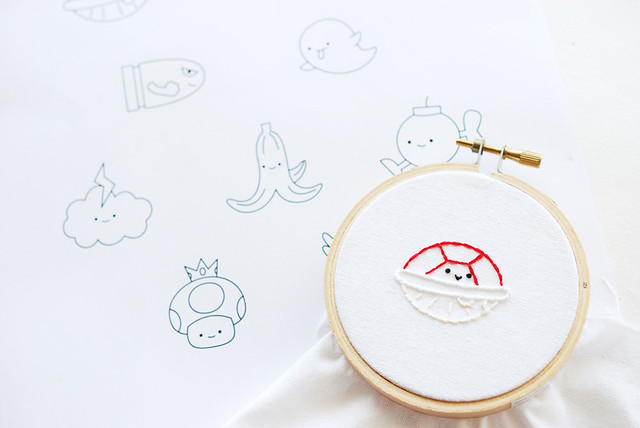 Mario Kart Embroidery Patterns