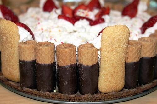 cheese cake al cioccolato e fragole