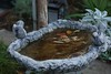 Very cold this morning, the water in the birds bath is frozen.