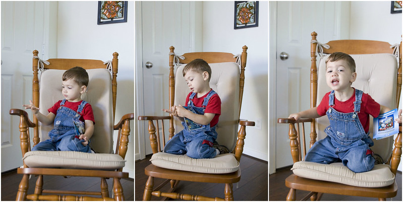 Aaron Turns 3 - rocking chair