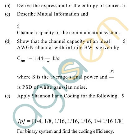 UPTU B.Tech Question Papers -TEC-606- Analog & Digital Comm. Engineering