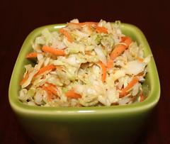 rice(0.0), seafood(0.0), produce(0.0), fried rice(0.0), pad thai(0.0), salad(1.0), coleslaw(1.0), food(1.0), dish(1.0), cuisine(1.0),