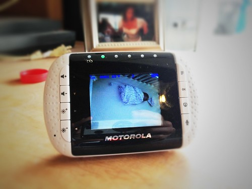 Through the baby monitor
