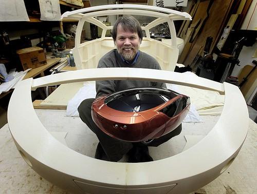Urbee 2 - легкий и прочный гибридный автомобиль напечатан на 3D-принтере
