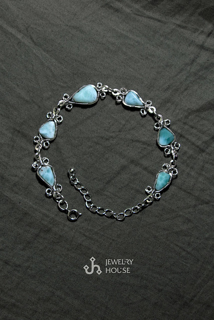 "Bracelet ""Silver and Turquoise"""