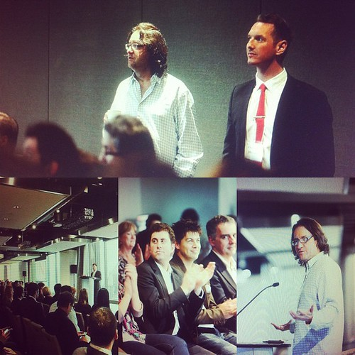 Brad Feld, A. Traviss Corry, and Ben Zlotnick at INcubes DemoDay in Toronto