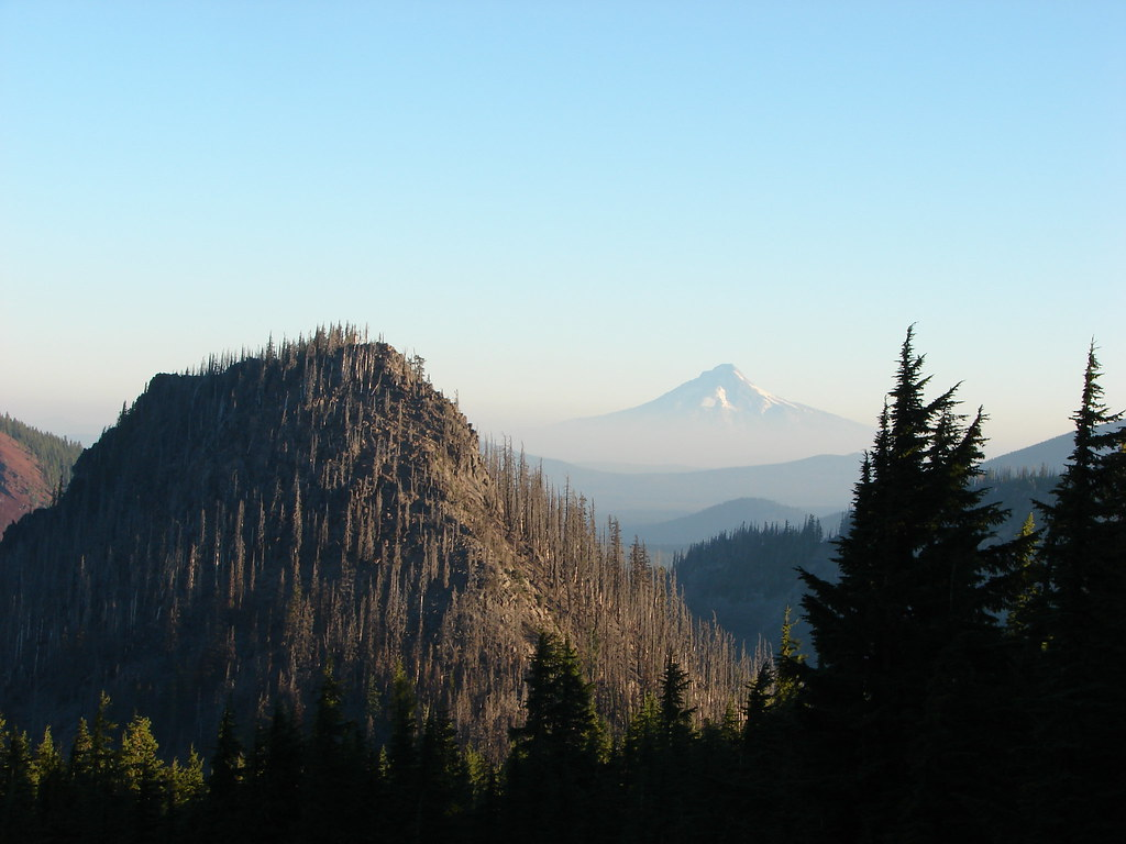 Pyramid Butte and Mt. Hood