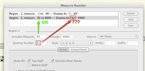 Measure Number Error