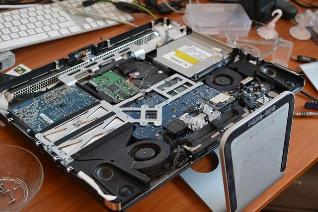iMac opened