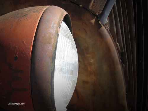 Rusted Headlight, by George Alger