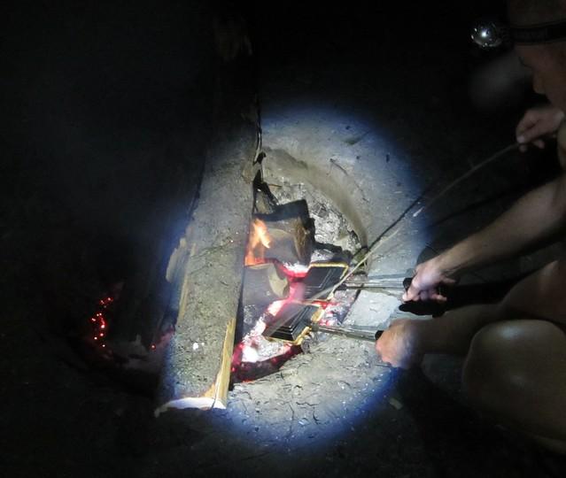 Late-night camp food