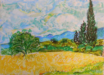 After VanGogh's 'Cypresses'