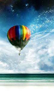 気球にのってどこまでも。