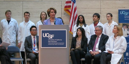 Congresswoman Pelosi highlights the serious impact of across-the-board cuts at UCSF