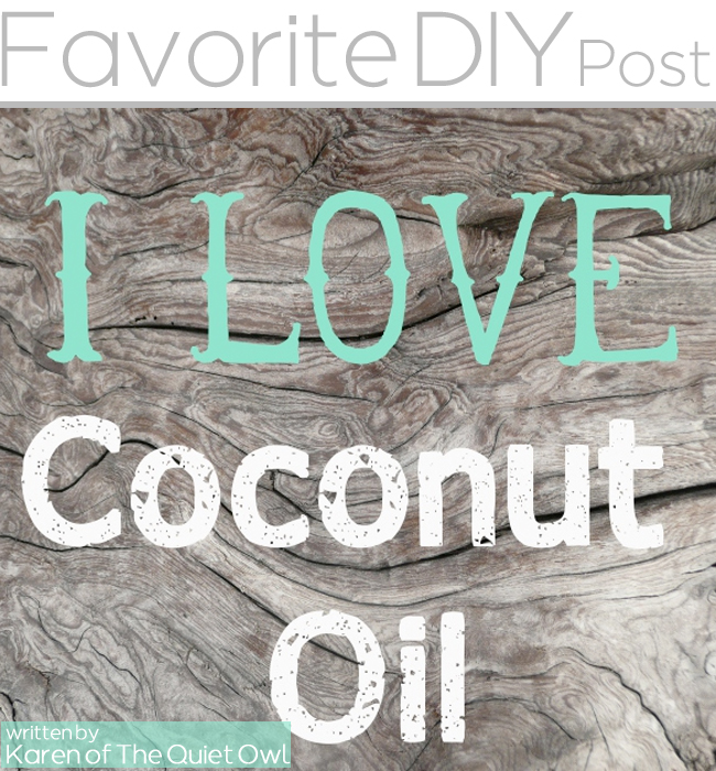Favorite DIY coconut oil