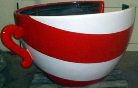 Red tea cup