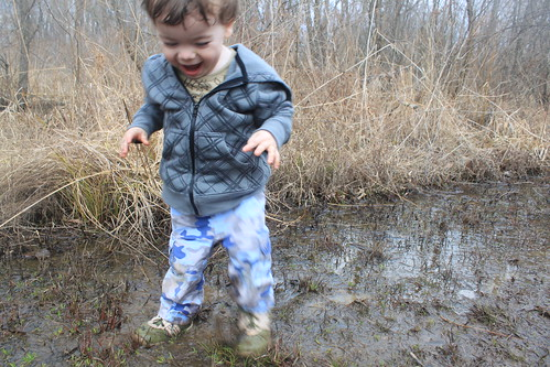 Julie J Metz Wetlands Hike - Yeah! Mud!