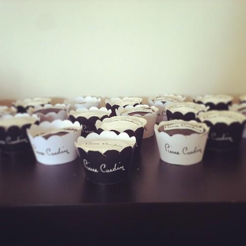 #pierrecardincupcakes#logocupcakes @rachelsparty by l'atelier de ronitte