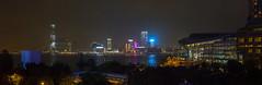 """""""九龍 + 灣仔 + 維多利亞港 Kowloon + Wan Chai + Victoria Harbour"""" / 香港建築全景攝影 Hong Kong Architecture Panoramic Photography / SML.20130317.7D.35358-SML.20130317.7D.35373-Pano.Cylindrical.100x38.5"""