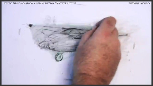 learn how to draw a cartoon airplane in two point perspective 030