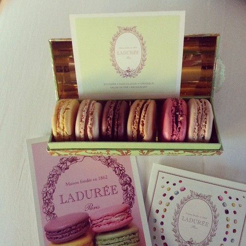 My prize from Paris.   Laudrée macarons.  I want to eat all of them immediately but also save them all forever.
