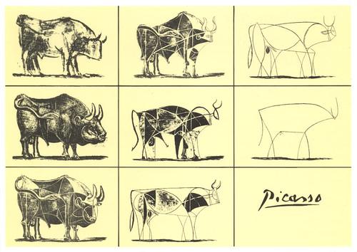 "PABLO PICASSO "" The Bull metamorphosis"""