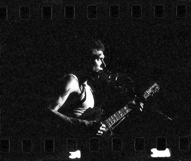 Photo:Jorma Kaukonen, Hot Tuna, Winterland, 1974? Full frame. W/ cosmic background radiation! By wbaiv