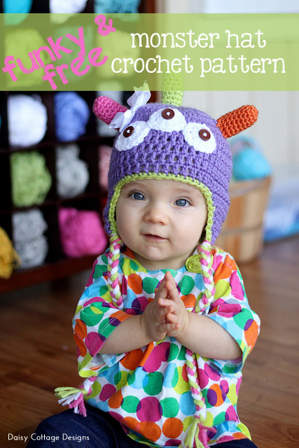 Free Monster Hat Crochet Pattern