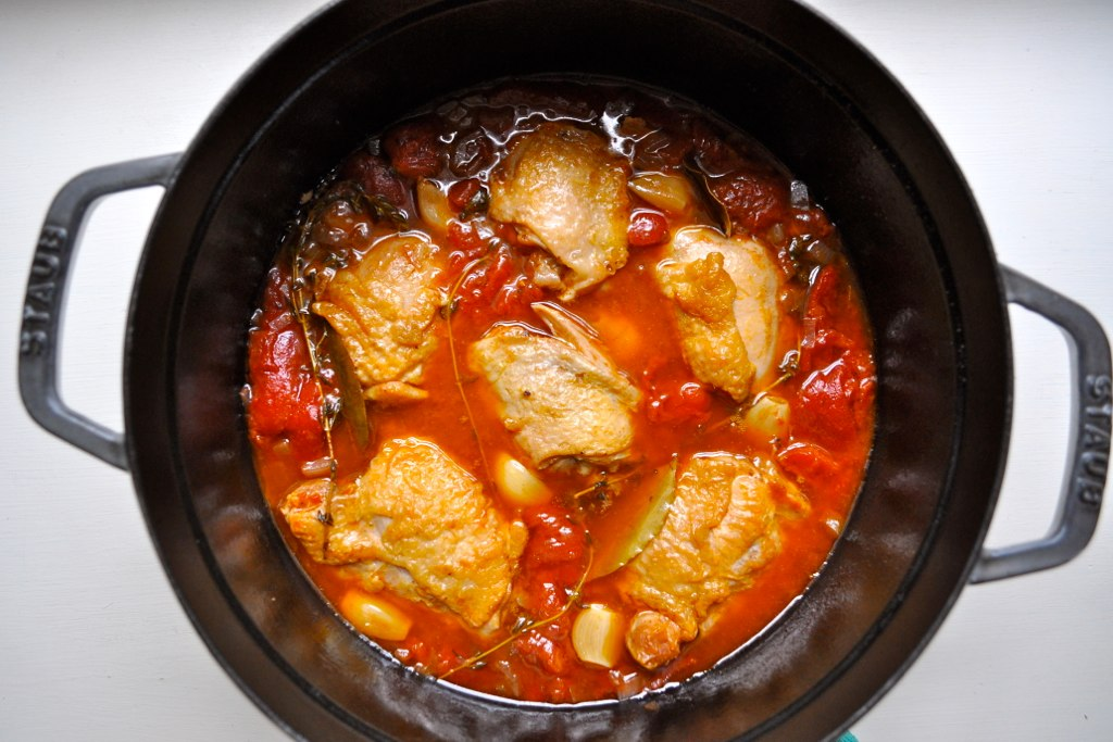 Chicken Braised With Red Wine Vinegar And Tomatoes Recipes ...
